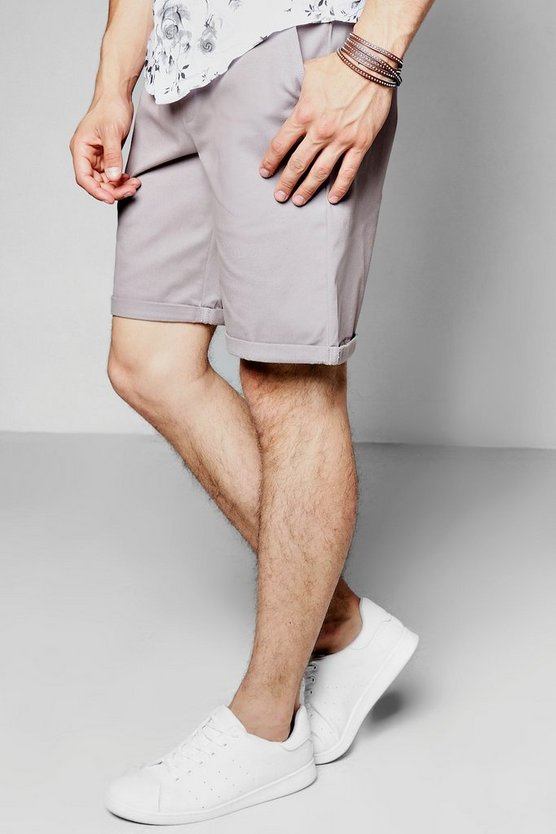 Slate Wide Leg Chino Short