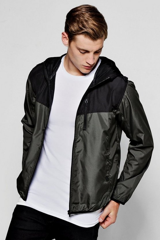 Khaki Panel Zip Through MA1 Cagoule