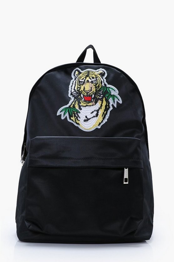 Black Tiger Badge Backpack
