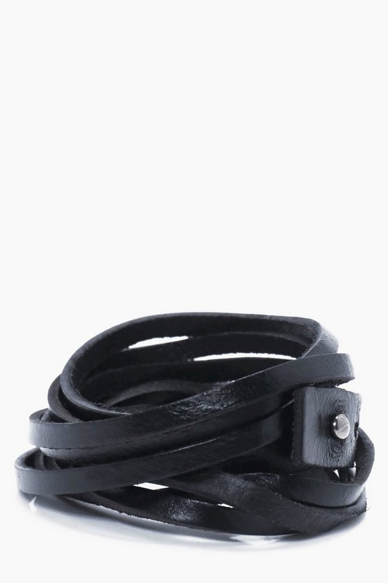 Multi Faux Leather Band Bracelet
