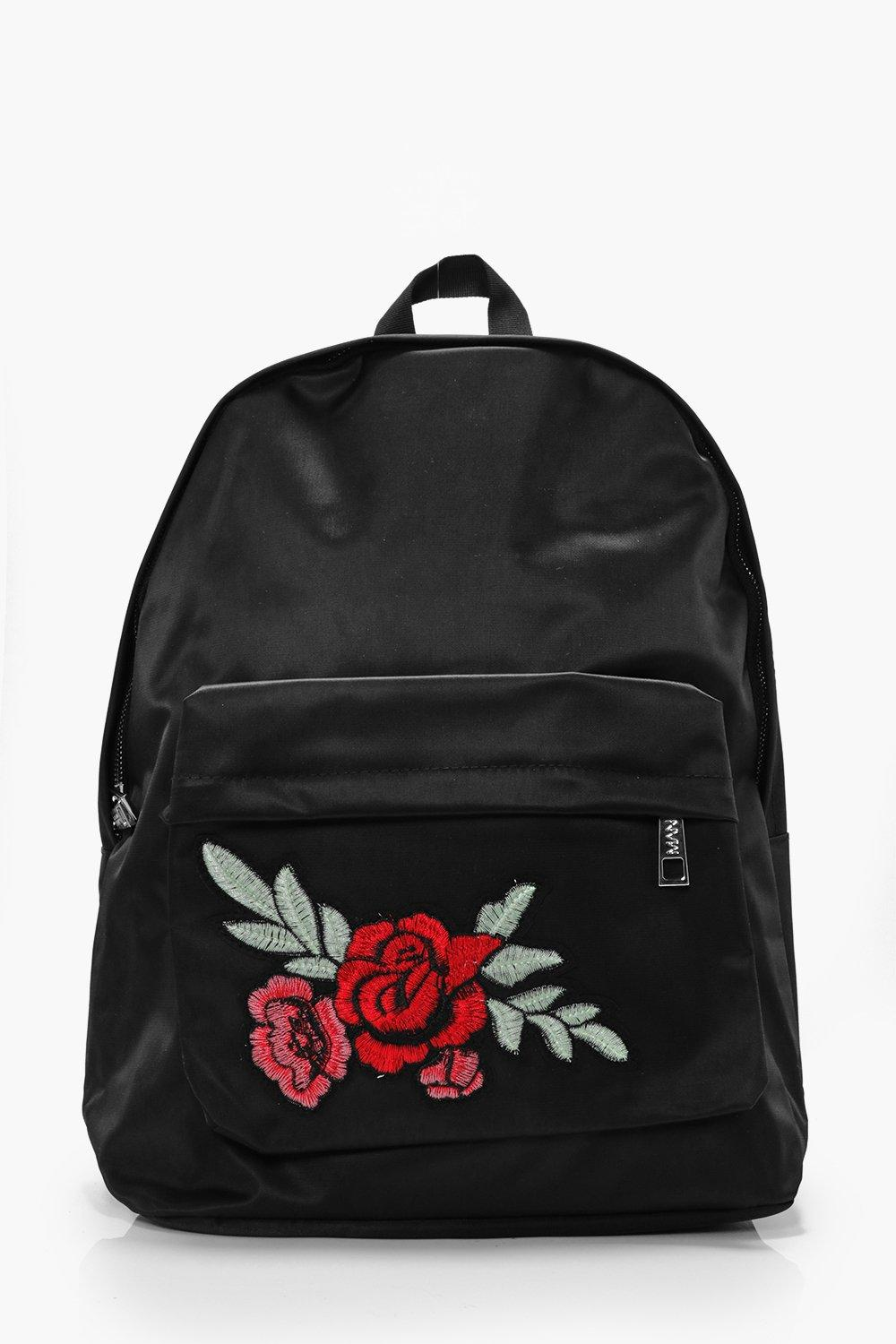 Rose Badge Backpack - black - Black Rose Badge Bac