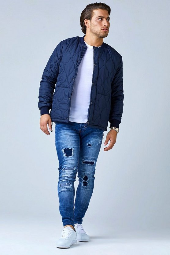 Onion Quilted Bomber Jacket