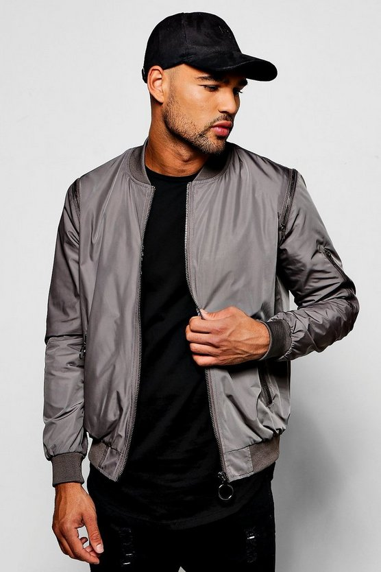 Smart Multi Zip Bomber Jacket