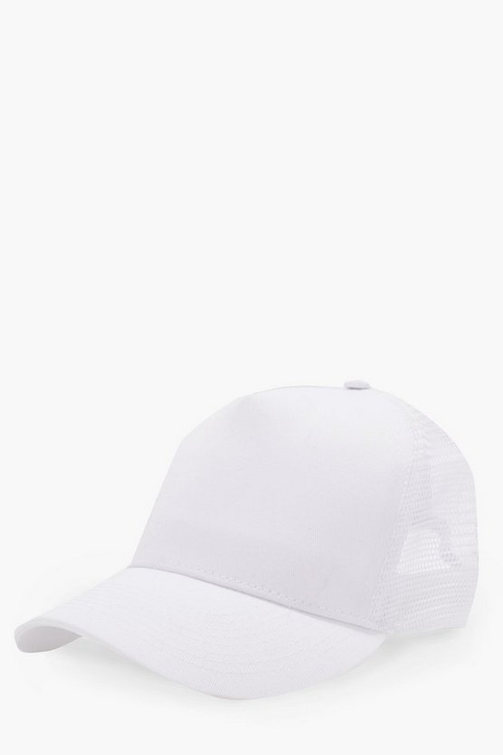Plain Contrast Trucker