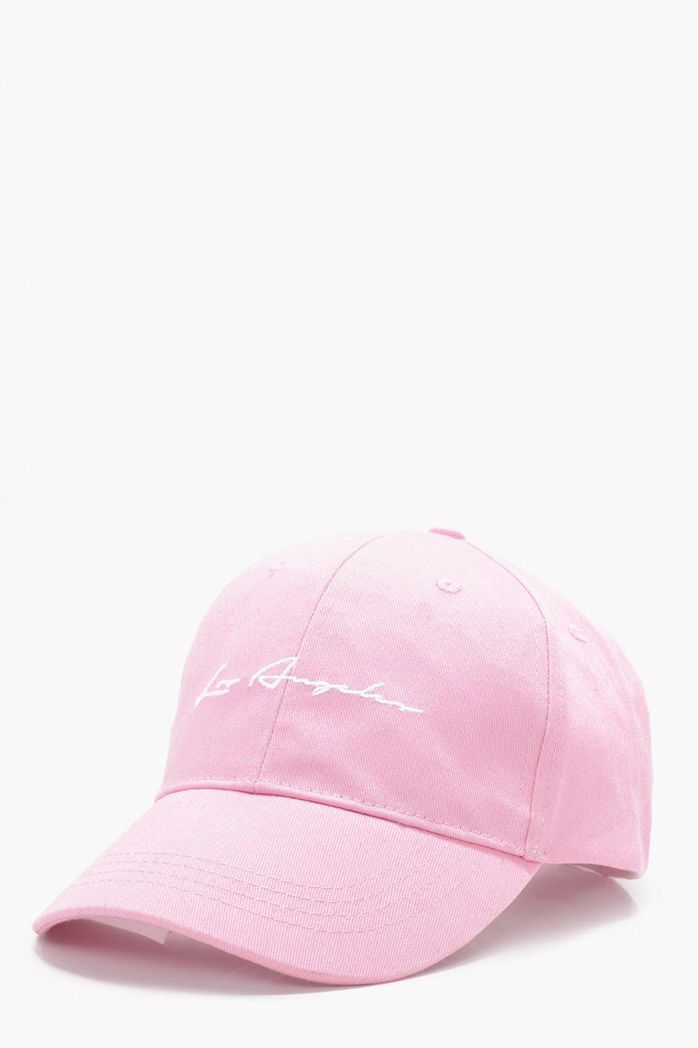 Angeles Signature Embroidered Cap - pink - Los Ang