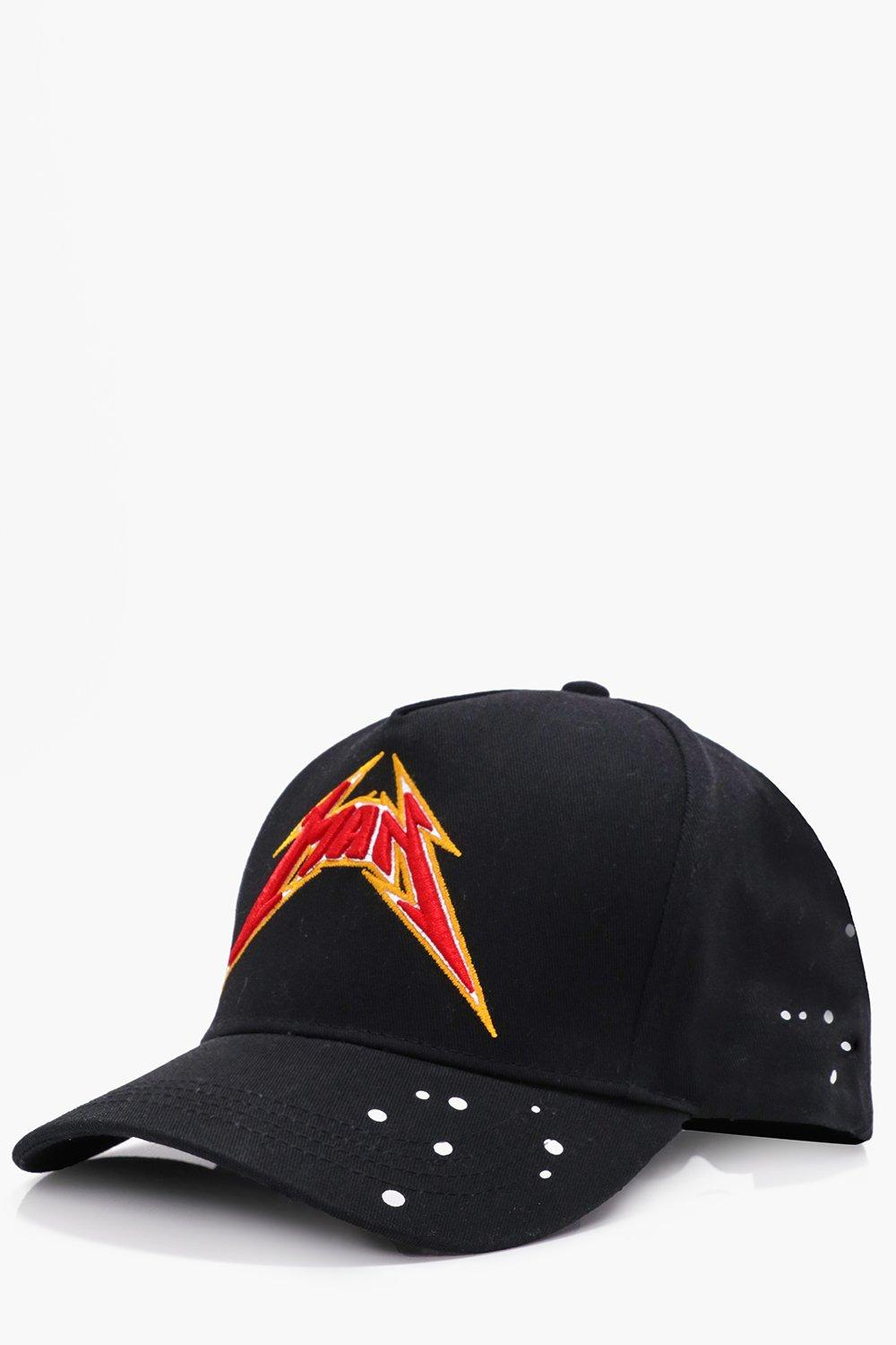 Man Paint Splatter Hat - black - Black Man Paint S