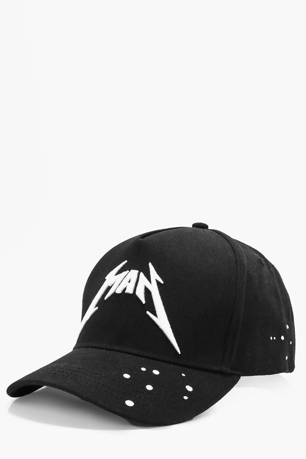 Man Band Peak Cap - black - Black Man Band Peak Ca