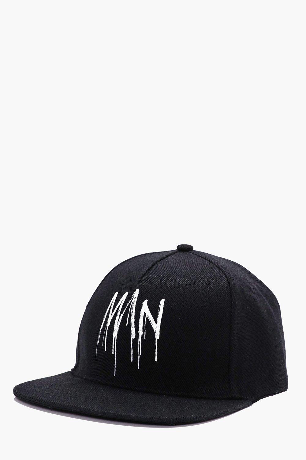 Graffiti Printed Snap Back - black - Man Graffiti