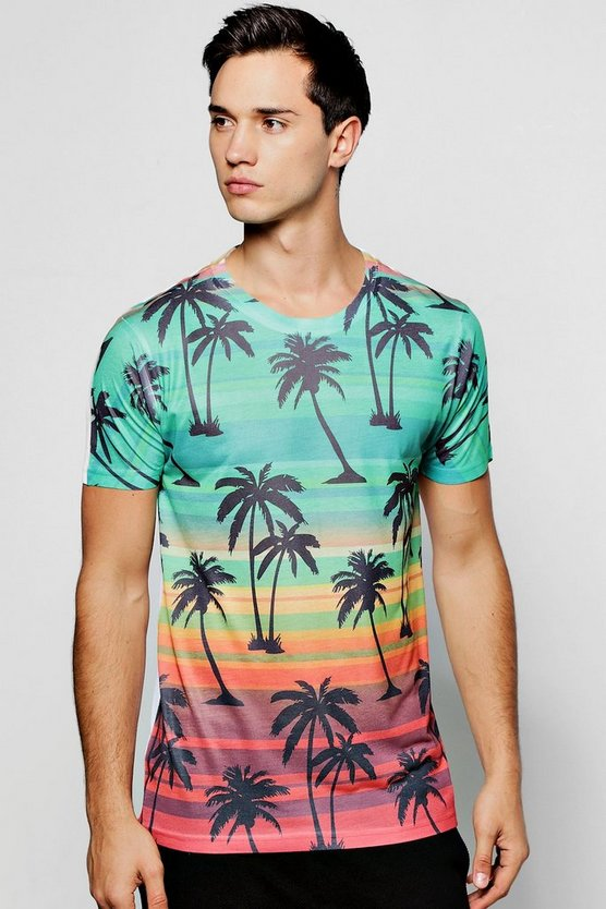 Sunset Palm Sublimation T Shirt