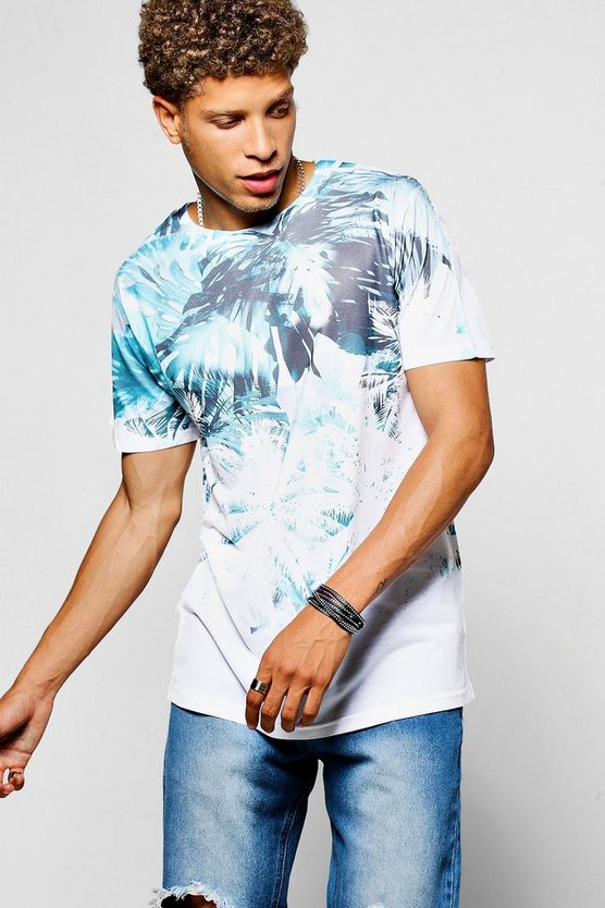 Faded Palm Sublimation T Shirt