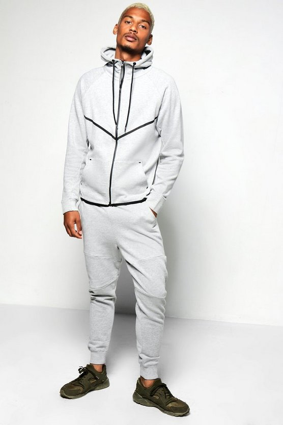 Skinny Fit Sport Hooded Tracksuit