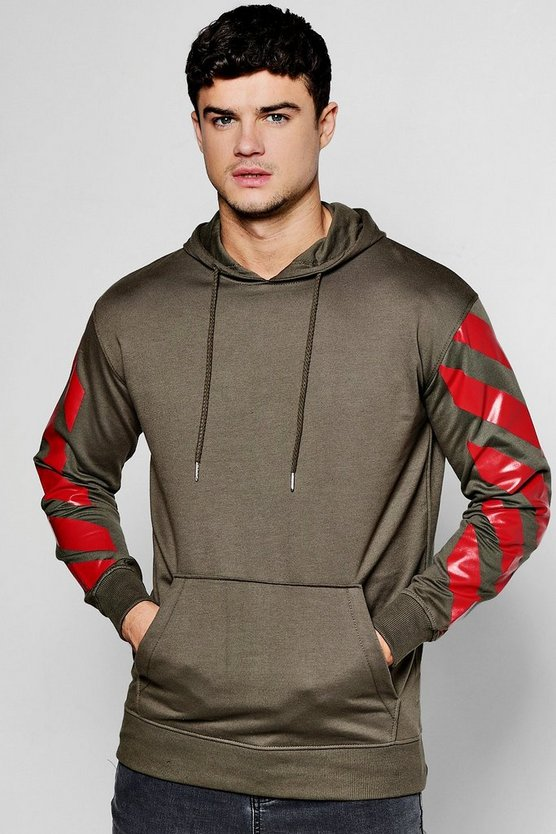Oversized Hoody With Sleeve Print