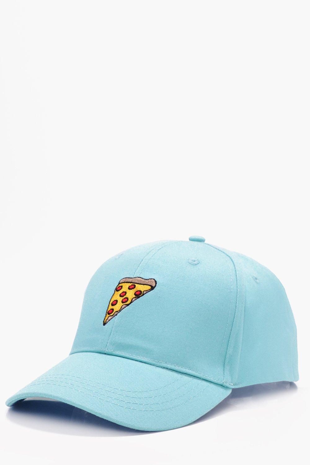 Embroidered Snapback Cap - mint - Pizza Embroidere