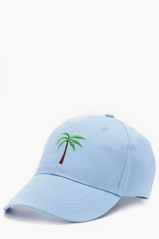 Palm Tree Embroidered Snapback Cap