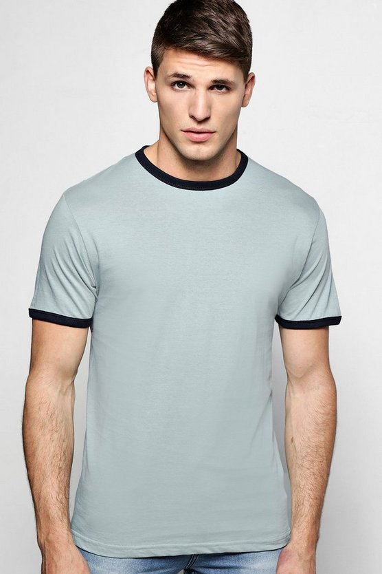 Crew Neck Regular Fit Ringer T-Shirt