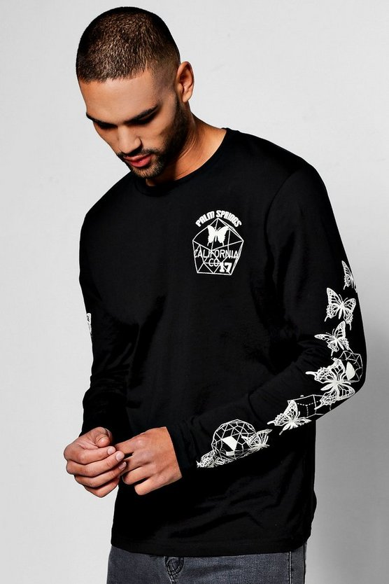 Long Sleeve Printed T Shirt