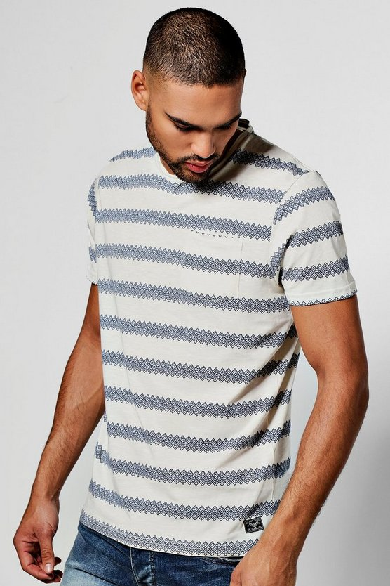 Jaquard Stripe T-Shirt