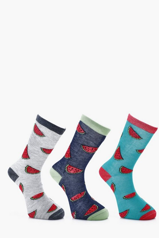 Watermelon 3 Pack Socks