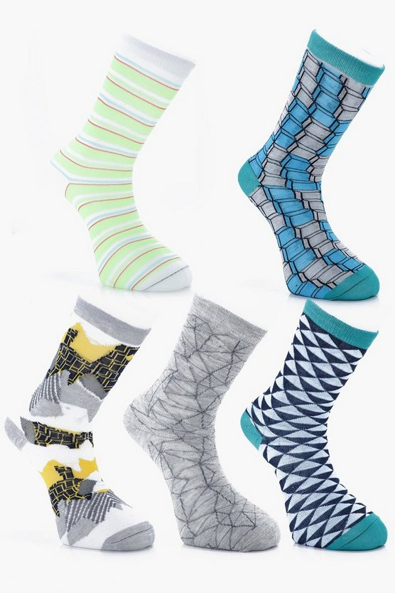 5 Pack Design Socks