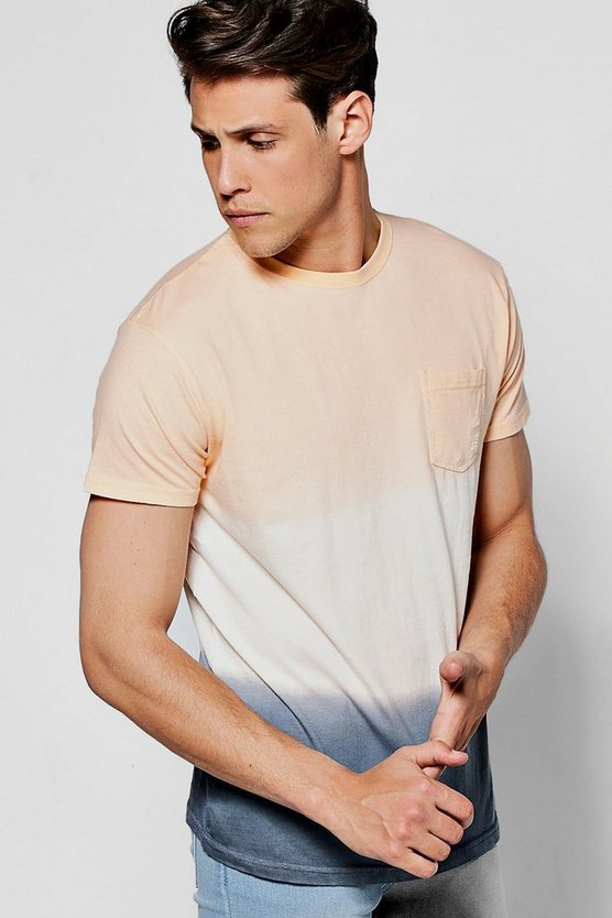 Dip Dye Faded Ombre T-Shirt