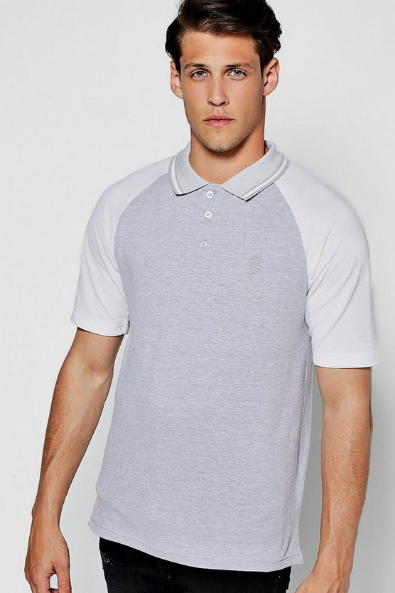 Sports Raglan Polo in Pique