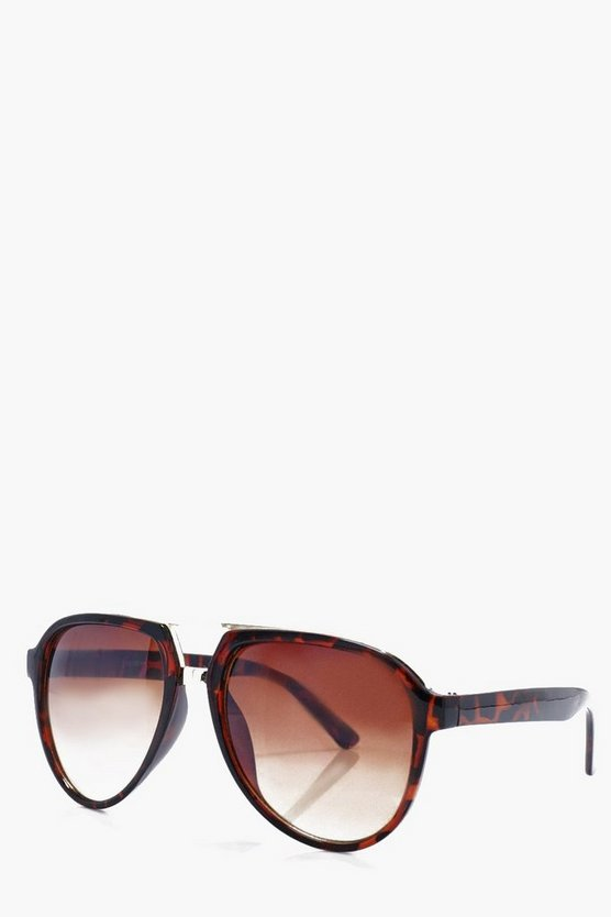 Brown And Gold Frame Aviators