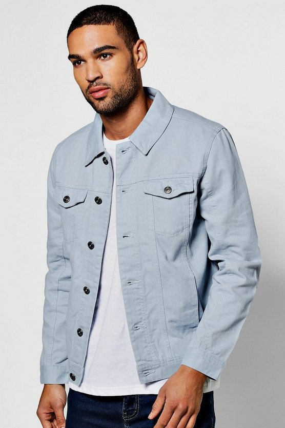 Pale Blue 4 Pocket Denim Jacket