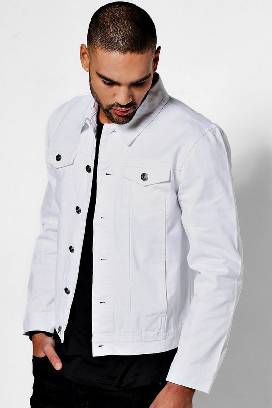 White 4 Pocket Denim Jacket