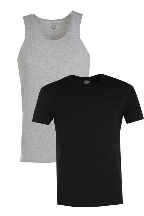 2 Pack Muscle T-Shirt And Muscle Vest