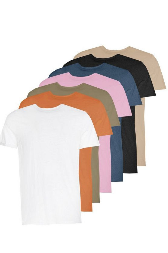 7 Pack T-Shirt With Rolled Sleeve