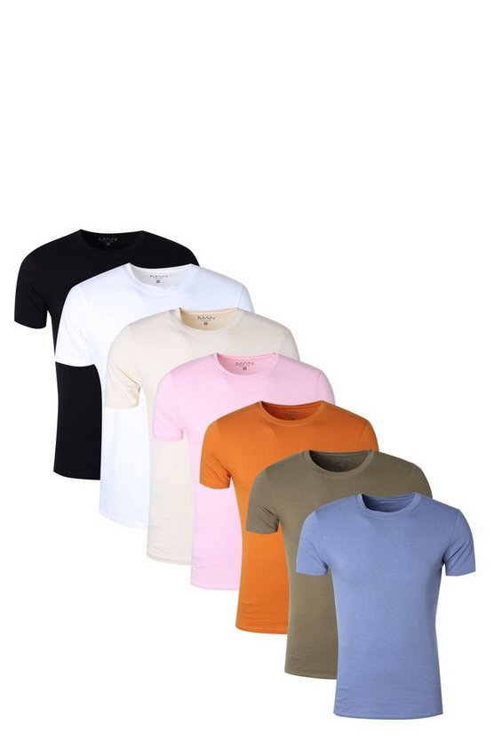 7 Pack Muscle Fit T- Shirt