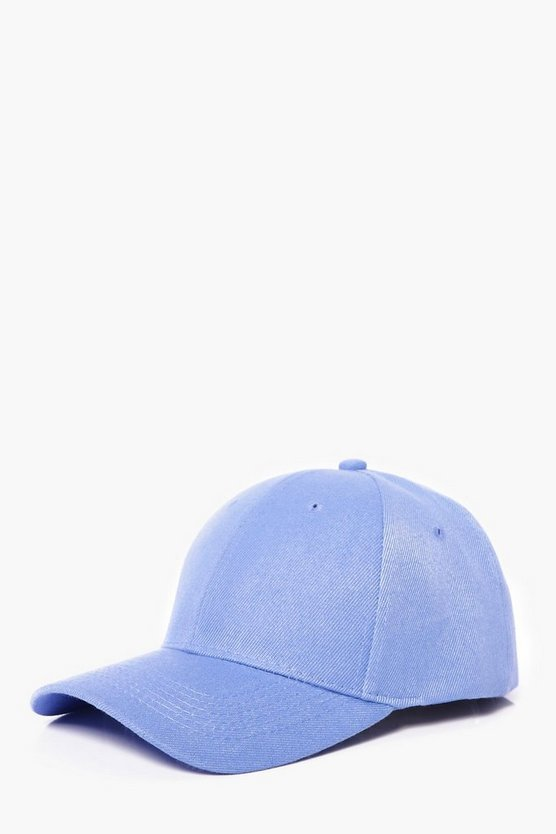 Pale Blue Plain Snapback Cap