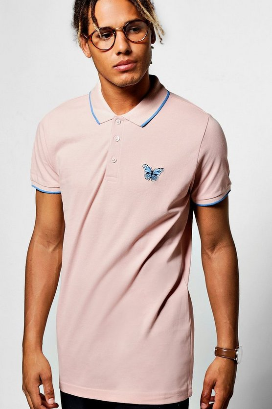 Chest Embroidered & Tipping Detail Polo