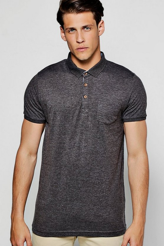 Chest Pocket Short Sleeve Jersey Polo