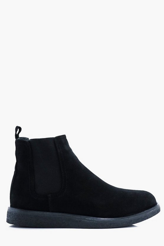 Wedge Sole Chelsea Boots