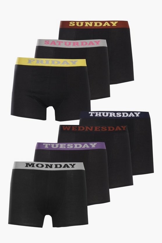 7 Pack Day of the Week Boxers