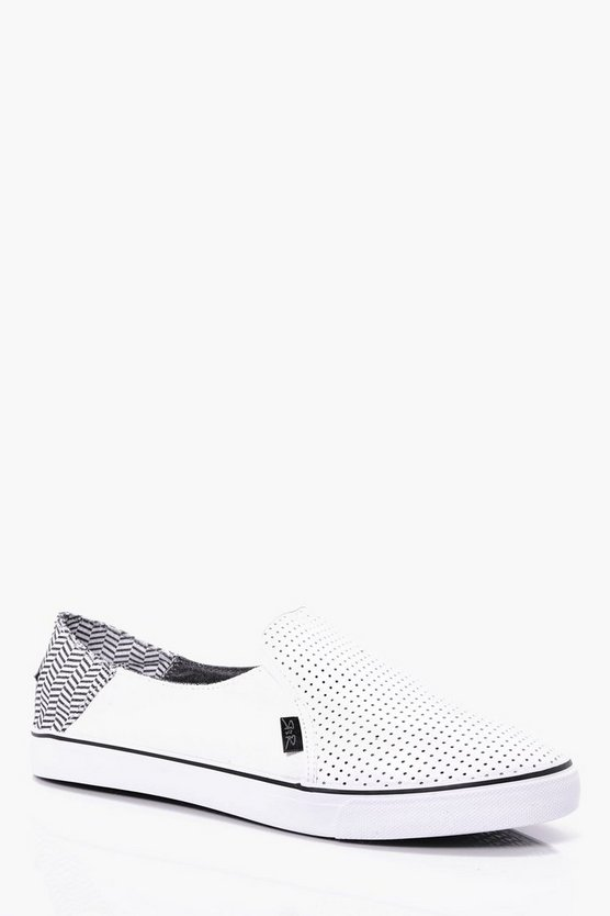 Perforated PU Slip Ons