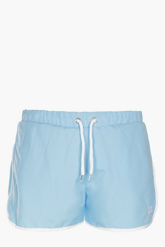 Aqua Runner Short With Embroidery