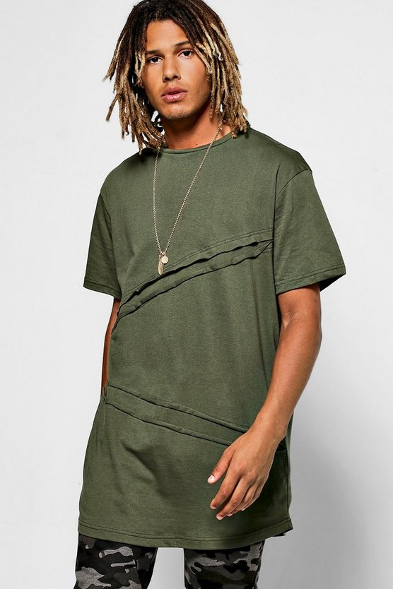 Diagonal Seam T-Shirt