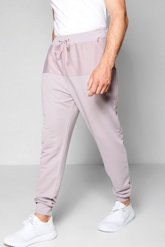 Reverse Panel Drop Crotch Joggers