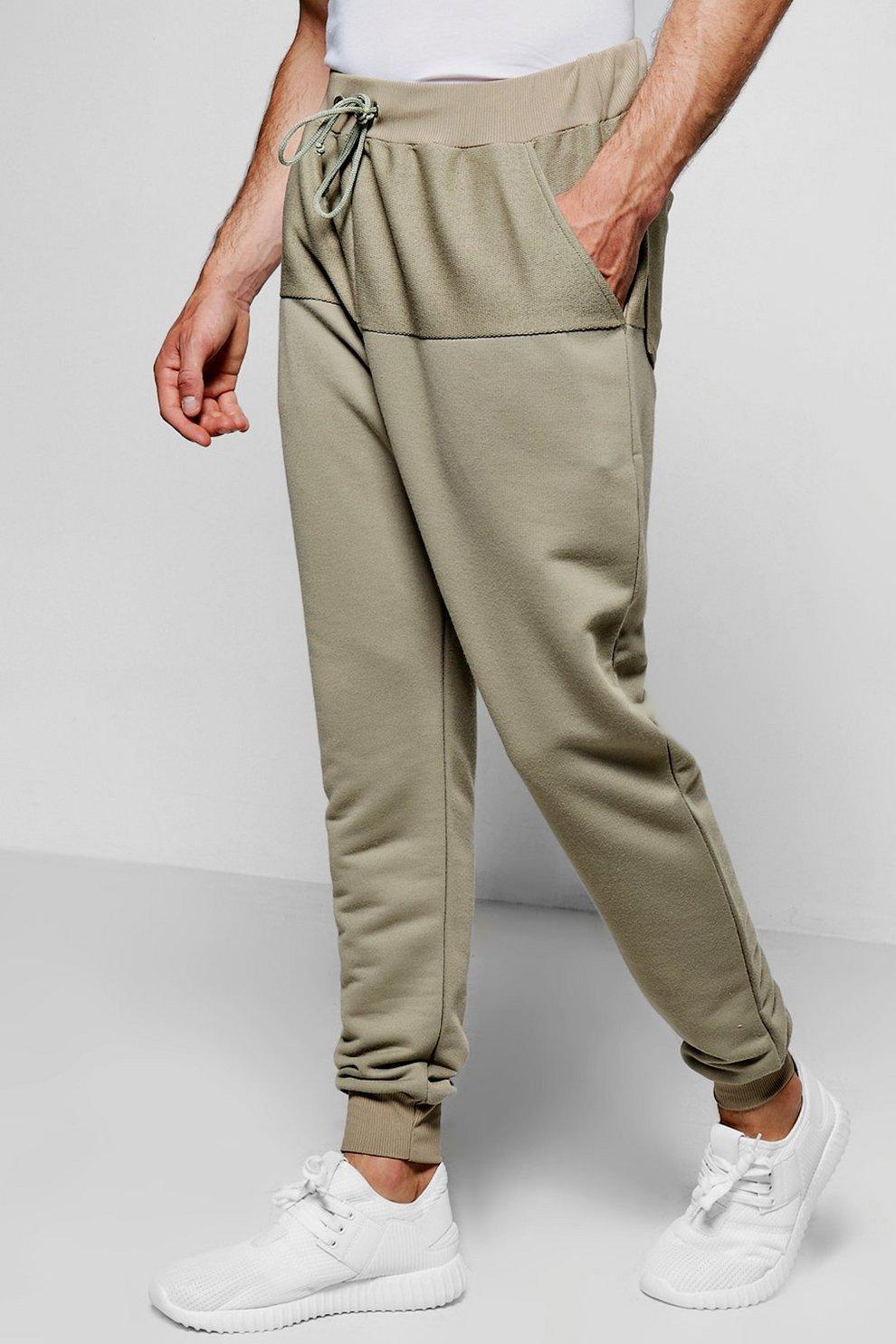 Reverse Panel Drop Crotch Joggers