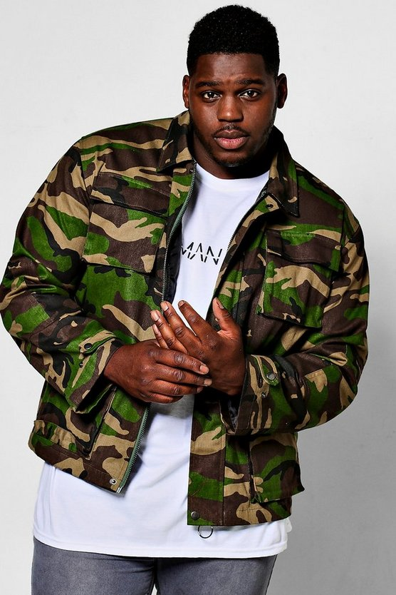 big and tall veste style militaire camouflage