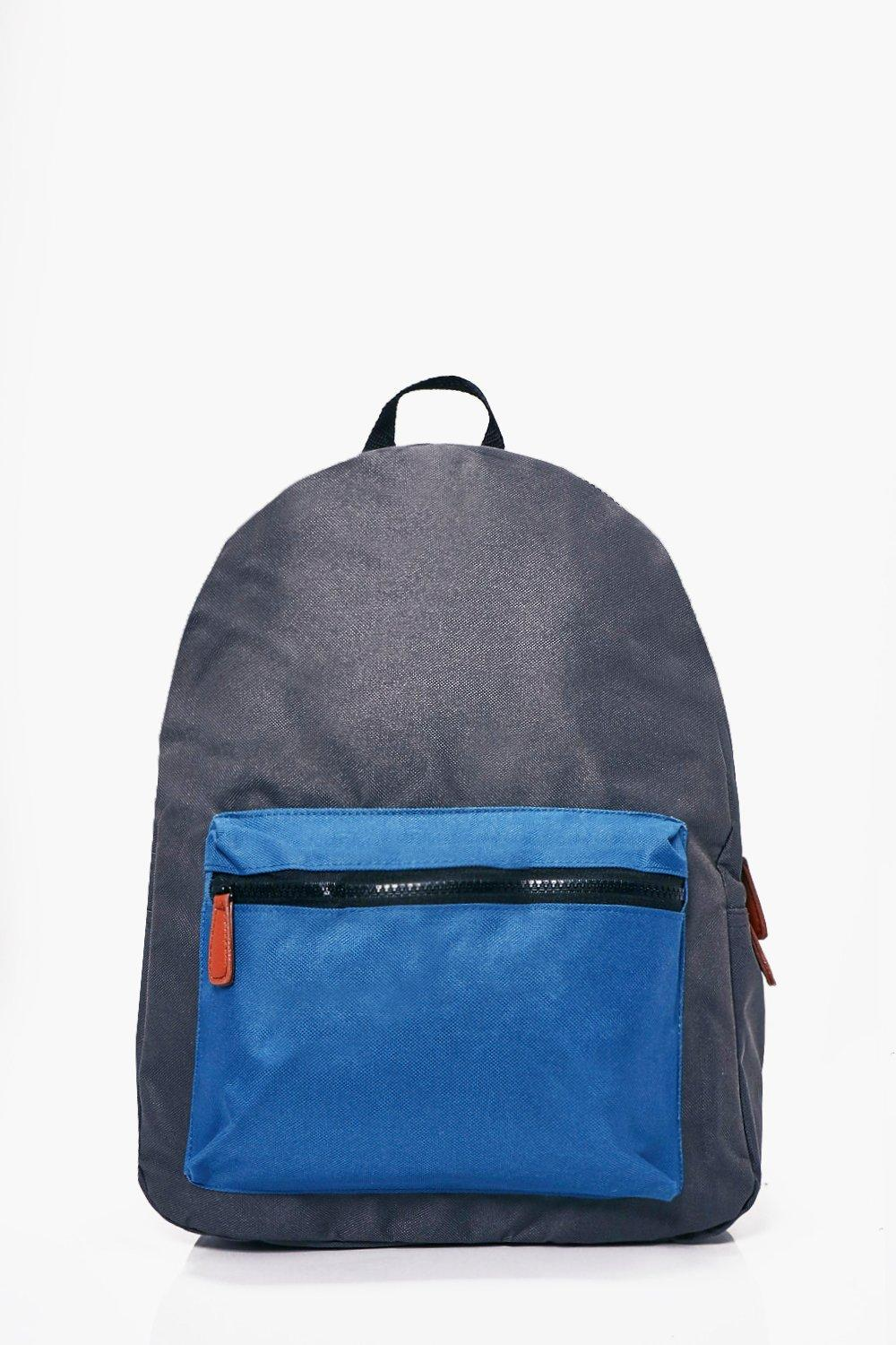 Pocket Backpack - grey - Contrast Pocket Backpack