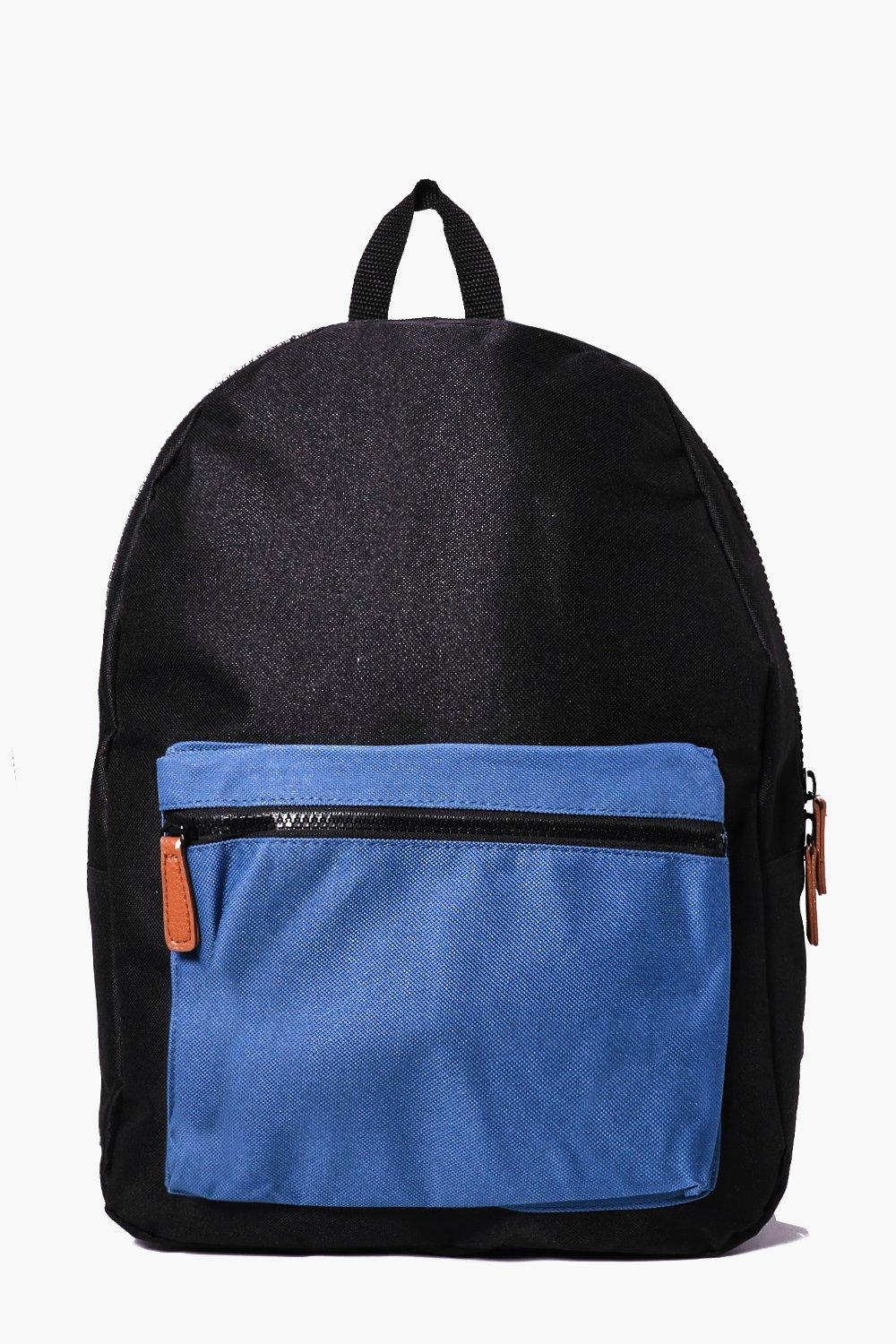 Pocket Backpack - black - Contrast Pocket Backpack