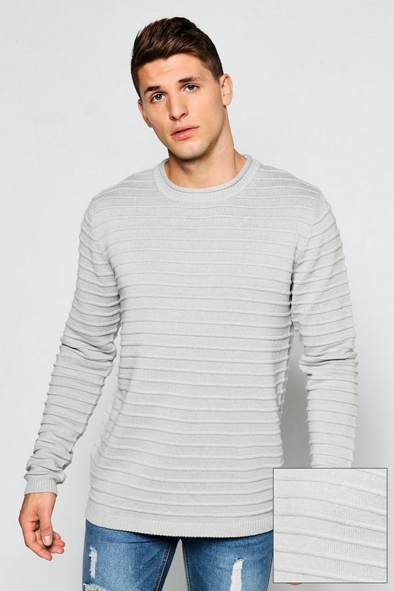 Bagel Neck Ribbed Knit Jumper