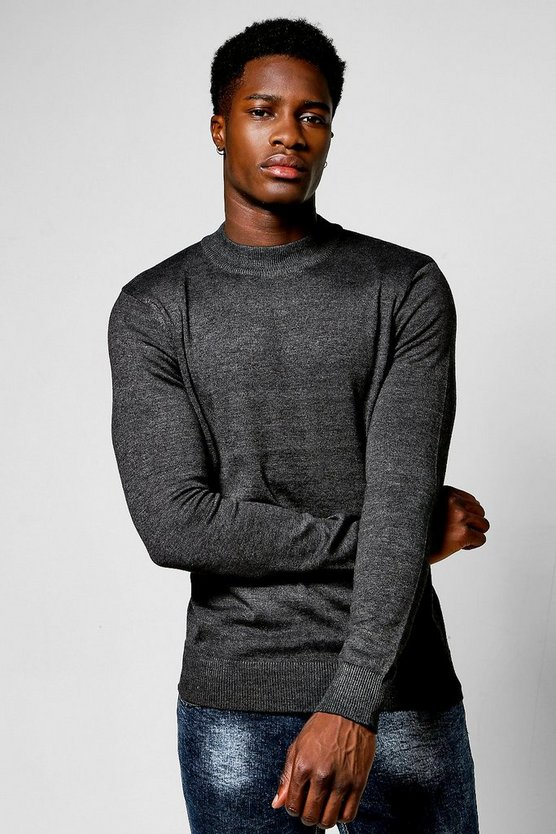 Long Sleeve Knitted Turtle Neck Jumper