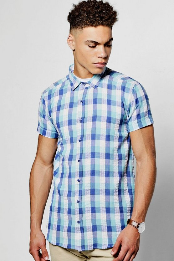 Short Sleeve Multi Gingham Shirt