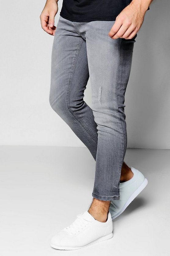 Skinny Fit Stretch Cropped Jeans