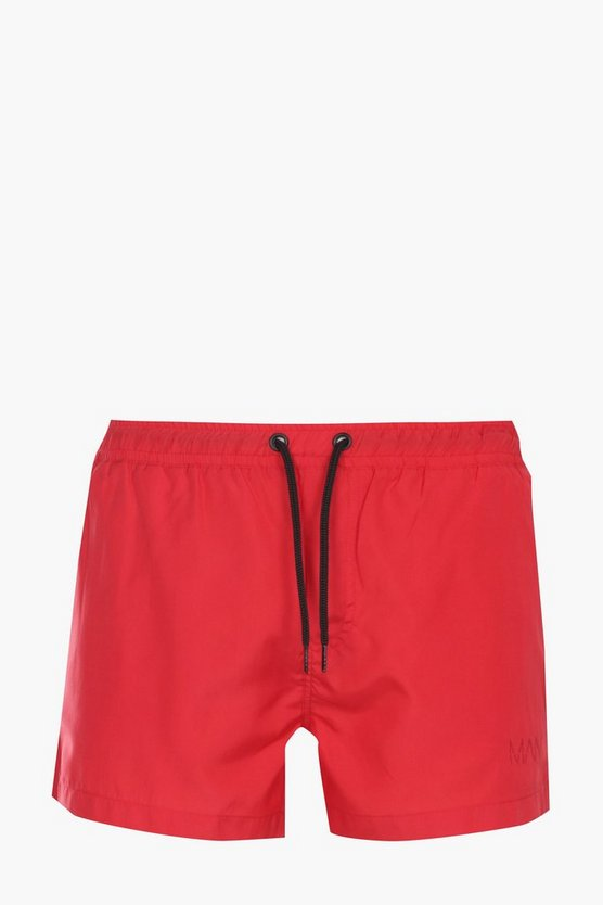 Plain Short Swim Shorts
