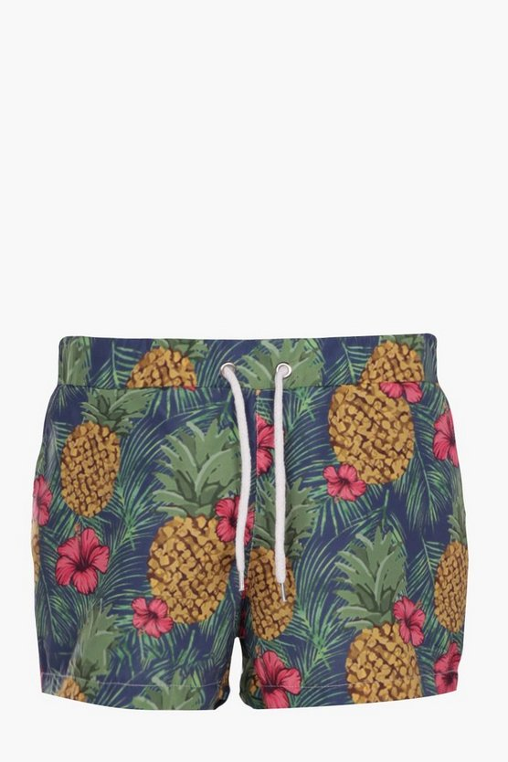 Pineapple Print Short Swim Short